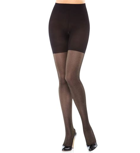 patterned control tights spanx patterned body shaping lurex tights