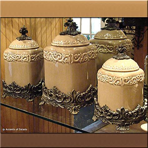 tuscan kitchen canister sets 28 images tuscan design taupe kitchen canisters s 3 ceramic