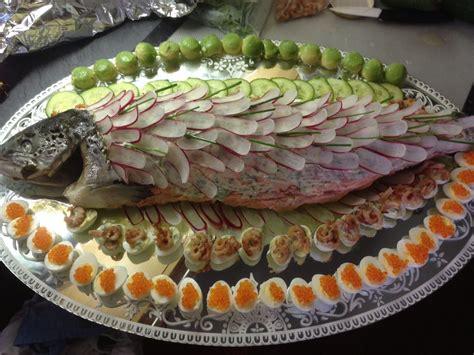 saumon froid bellevue maison fish poisson peixe pinterest buffet decorations  buffet