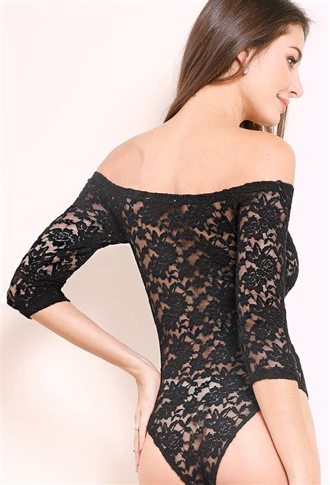 Shoulder Floral Bodysuit floral lace the shoulder bodysuit shop tops 10