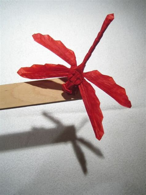 sell origami origami dragonfly make in burgundy and sell for donations