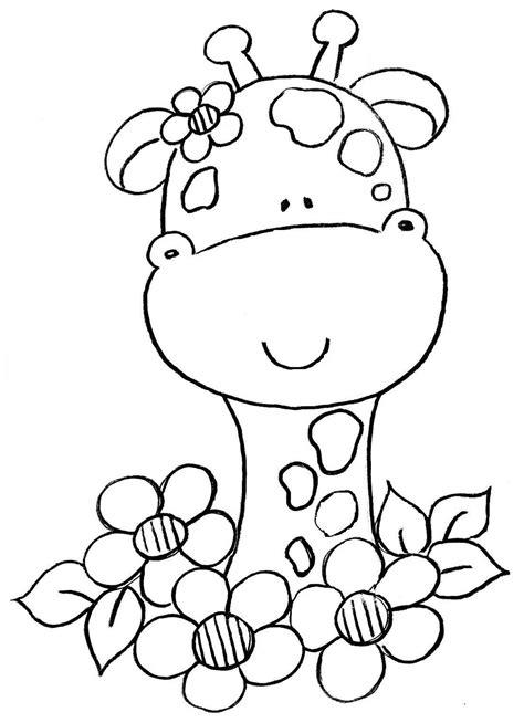 imagenes jirafas colorear jirafas beb 233 s para colorear imagui