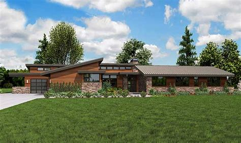 modern ranch home plans plan w69510am stunning contemporary ranch home plan e