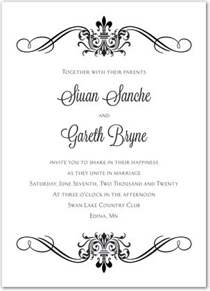 blank wedding invitations template