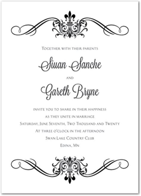 free blank wedding invitation templates blank wedding invitations template
