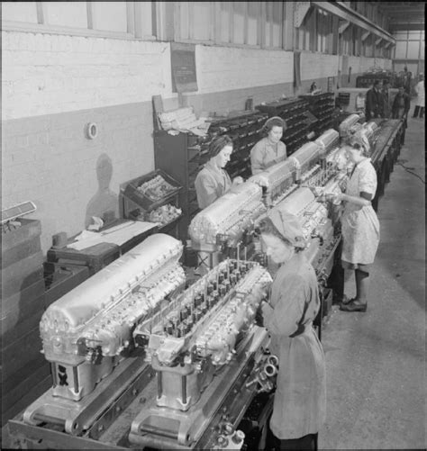 Original Factory by File Rolls Royce Factory Merlin Engines And