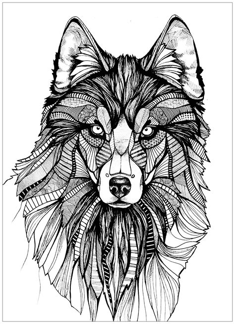 intricate wolf coloring pages here are complex coloring pages for adults of animals