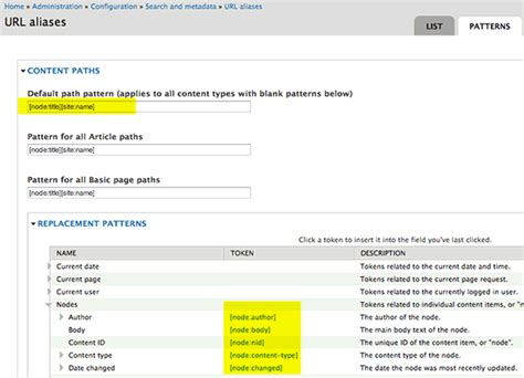 pattern url maximizing serp with drupal and friendly urls