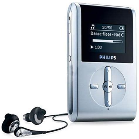 hz mp3 philips hdd082 17 refurbished silver black 2 gb mp3 player