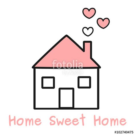 Lovely Sweet White quot lovely black white and pink home with hearts