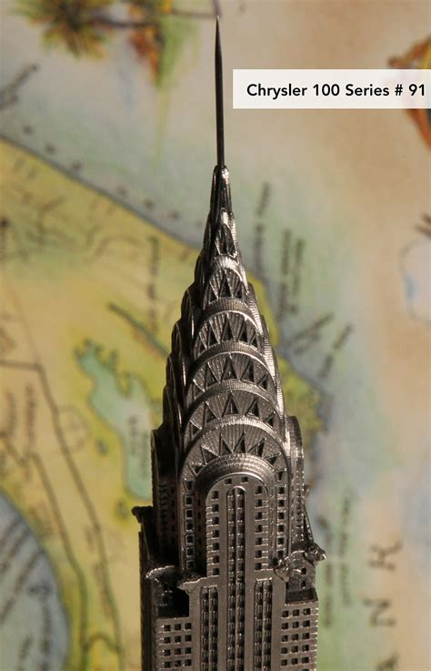 Chrysler Building Replica by The Chrysler Building Pewter Miniature Souvenir