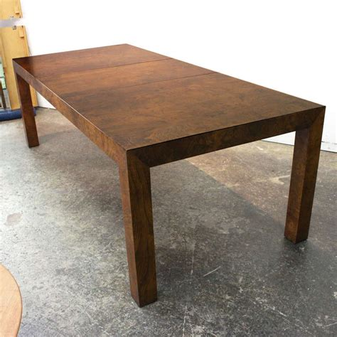 Parsons Dining Table Burl Parsons Dining Table By Milo Baughman At 1stdibs