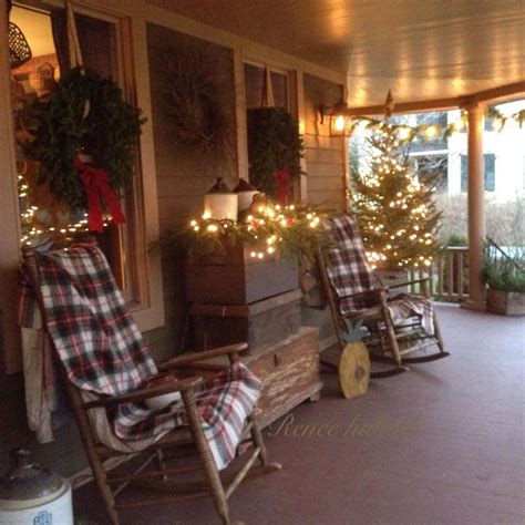 exterior decoration renee hubiak s wonderfully festive porch country
