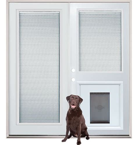 patio back doors with mini blinds and pet