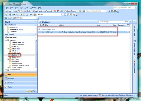 Office 365 Outlook Delay Send How To Delay Or Schedule Delivery Of Email Using Outlook 2007