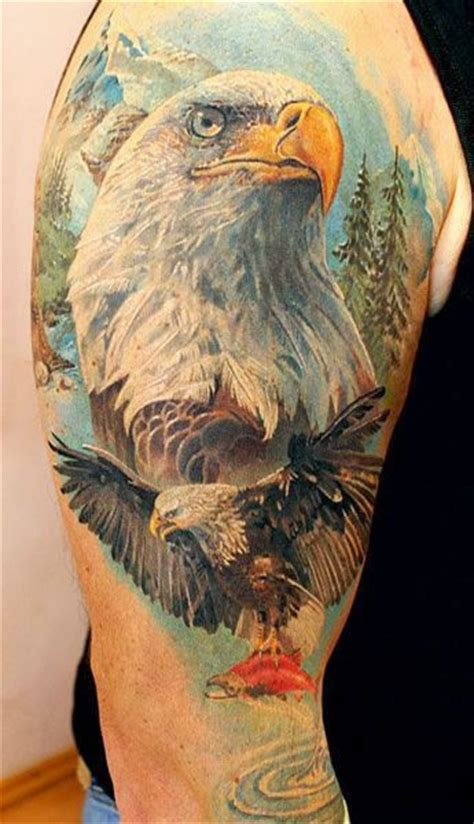 eagle tattoo underarm 25 best ideas about bald eagle tattoos on pinterest