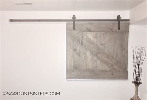 Barn Door Window Covering Plans - diy barn door style window covering sawdust