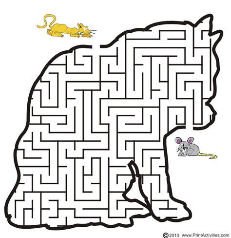 Printable Cat Maze | free printable cat maze