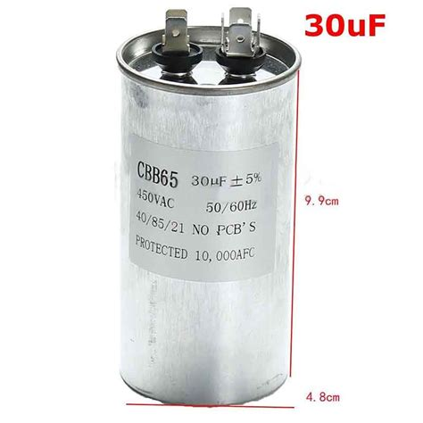 air conditioning compressor capacitor cbb65 ac 450v air conditioner compressor appliance fan motor run capacitor ebay