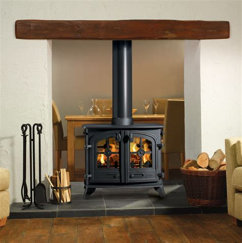 4 Sided Fireplace Wood Burning by Yeoman Exe Sided Wood Burning Stove