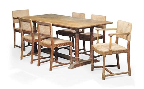 A Heal S Limed Oak Dining Table And Chairs Circa 1930s Limed Oak Dining Table And Chairs