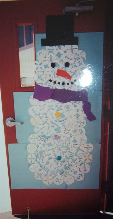 Snowman Door Decorations by Snowflake Snowman Door Yearn To Learn