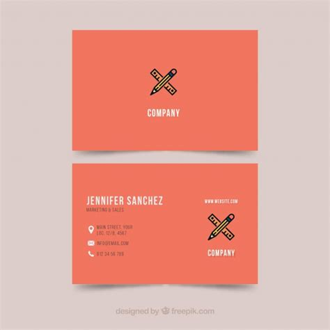 business card template illustrator vector free