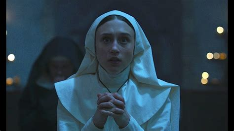 the nun cast actress the nun cast on prepping for the film s catholic