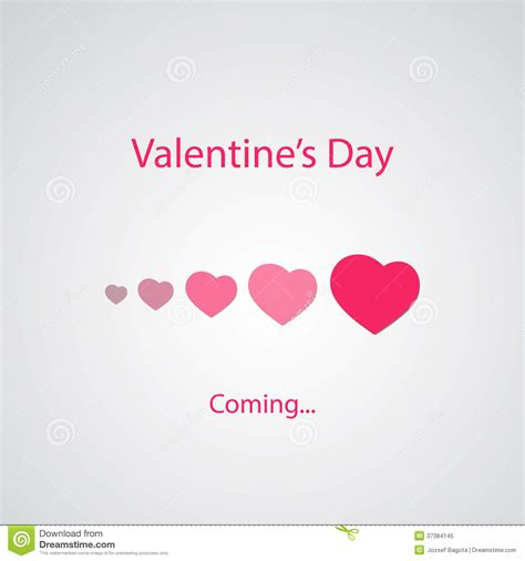 valentines day bj s day s coming greeting card concept stock