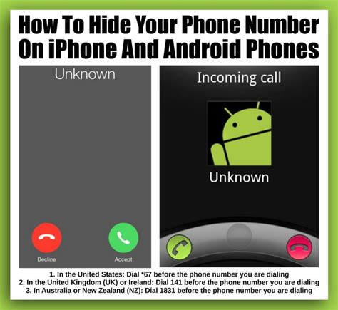 how to hide your phone number on iphone and android phones us3 - Hide Phone Number Android