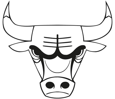 bull coloring free chicago chicago bulls coloring pages