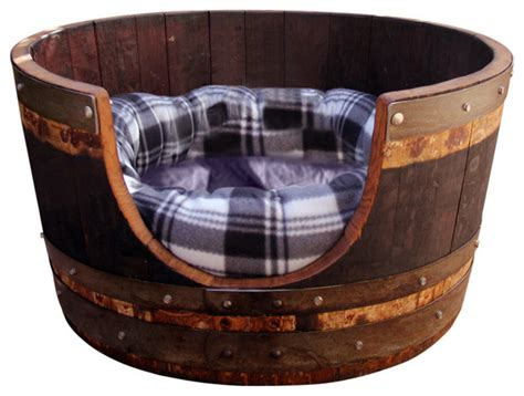 wine barrel dog bed wine barrel dog bed view in your room houzz