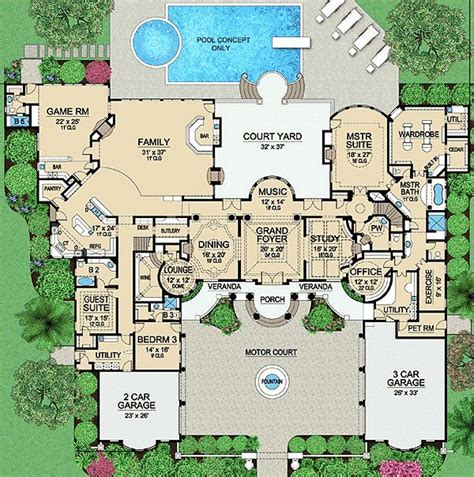 luxury house blueprints plan 36183tx palatial estate of your own country