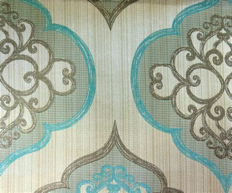 Fabric For Drapes And Upholstery by Geometric Aqua Damask Fabric By Yard Aqua Blue Curtain Fabric