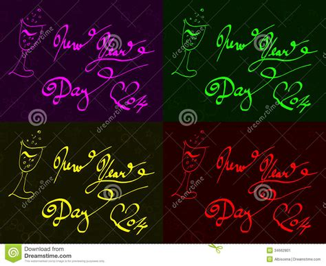 new year felicitations felicitation of new year and sparkling wine stock image
