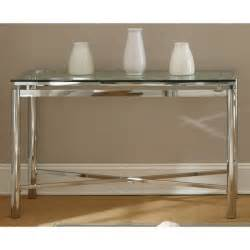 chrome sofa table greyson living natal chrome and glass sofa table