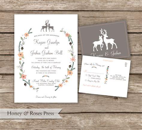 wedding invitations woodland woodland wedding invitation outdoor wedding invite