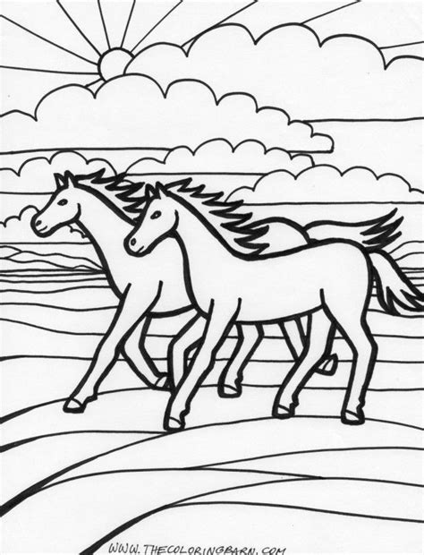 coloring pages of horses running running coloring pages coloring home