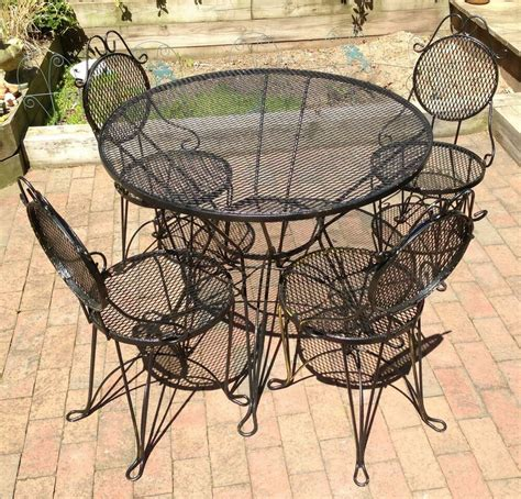 Wrought Iron Patio Rockers - wrought iron patio garden table 4 chairs set mid