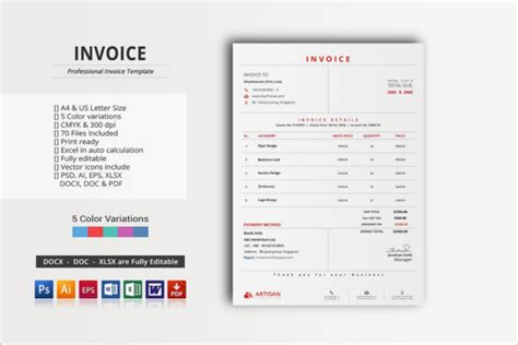 100 photoshop invoice template charity invoice