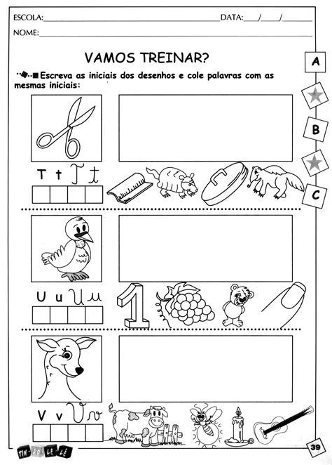 atividades para imprimir atividades de alfabetiza 231 227 o para imprimir