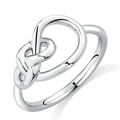 Sterling Silver Knot Ring knots ring in sterling silver