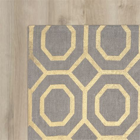 Grey And Gold Area Rugs Varick Gallery Columbus Circle Loomed Grey Gold Area Rug Allmodern