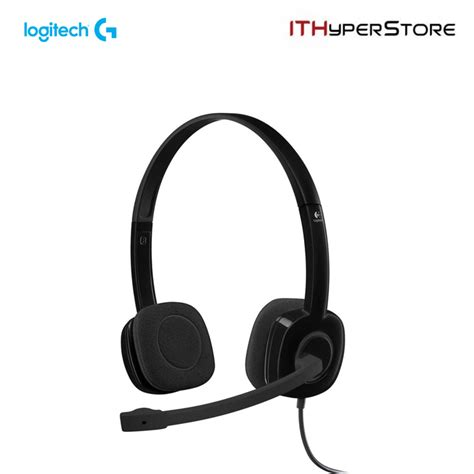 Logitech H151 Headset logitech stereo headset with mic h151 black