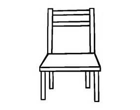 coloriage de une chaise en bois pour colorier coloritou