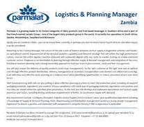 logistics planning manager zambia management