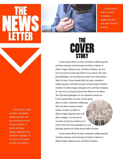 Free Printable Newsletter Templates Email Newsletter Exles News Letter Templates