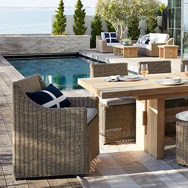 luxury outdoor furniture williams sonoma