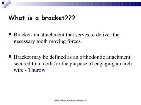 Description Of An Orthodontist by Brackets