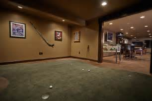 basement putting green indoor putting greens basement traditional with room